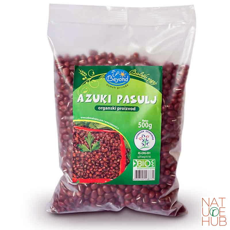 Organski azuki crveni pasulj, 500g